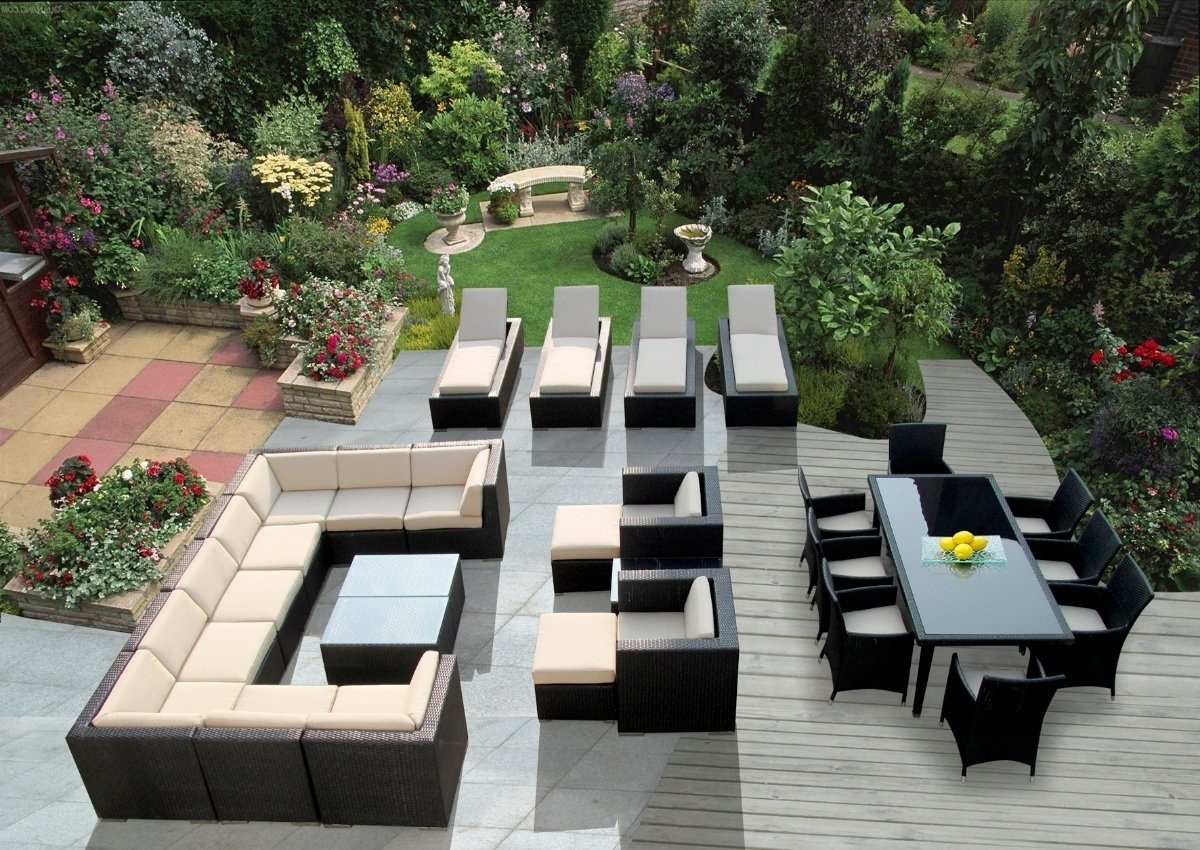 Amazon : Genuine Ohana Outdoor Sectional Sofa, Dining And Throughout Famous Chaise Lounge Sets (View 1 of 15)
