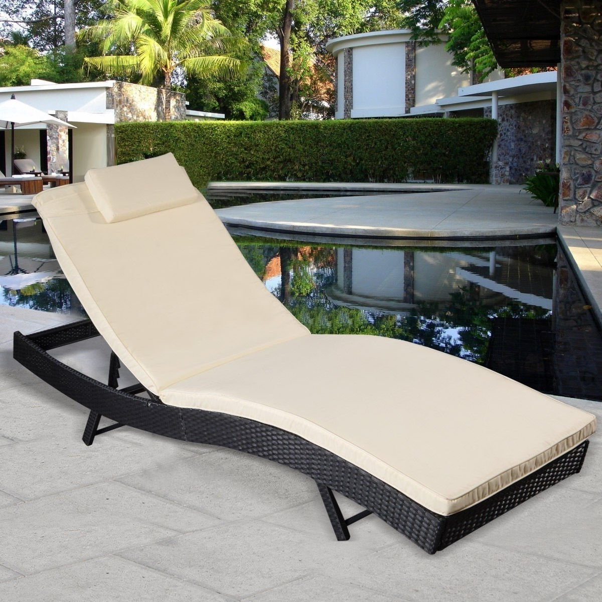 Amazon: Giantex Adjustable Pool Chaise Lounge Chair Outdoor Inside Recent Chaise Lounge Chairs Made In Usa (View 1 of 15)