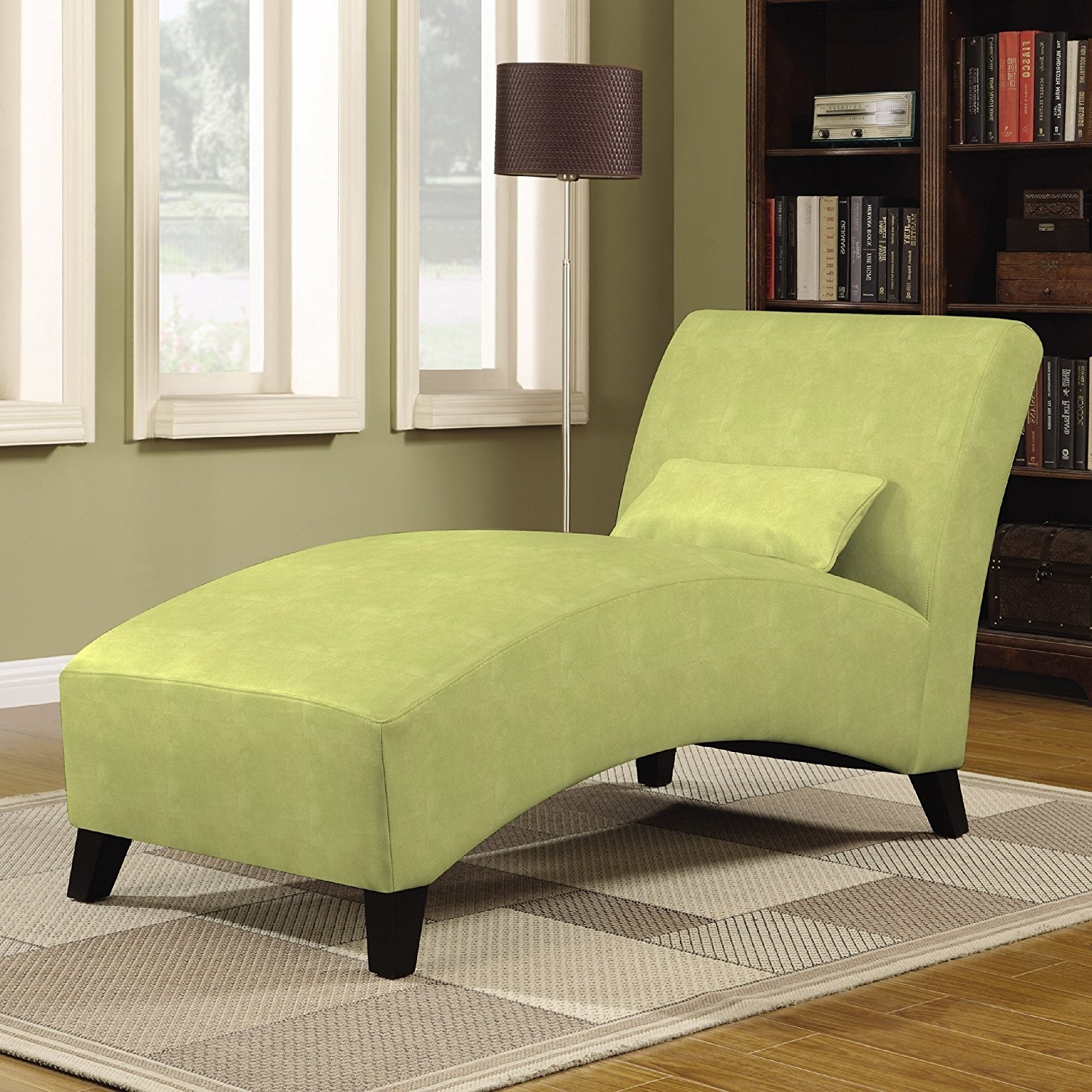 Amazon: Handy Living Chaise Lounge Chair, Gecko Green: Kitchen Regarding Most Up To Date Curved Chaise Lounges (View 2 of 15)