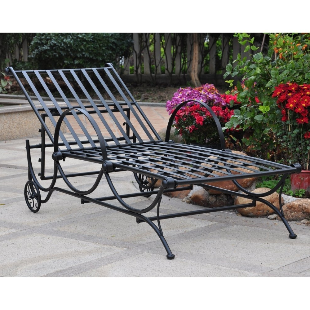 Amazon : International Caravan Mandalay Iron Patio Multi Intended For Most Popular Iron Chaise Lounges (View 11 of 15)