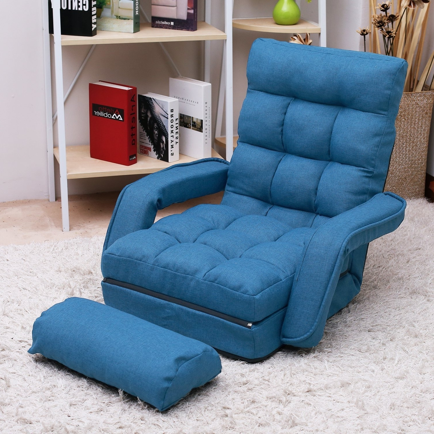 Amazon: Merax Folding Lazy Sofa Floor Chair Sofa Lounger Bed Pertaining To Most Recent Lazy Sofa Chairs (View 3 of 15)