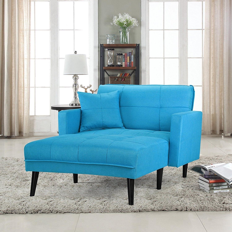 Amazon: Modern Linen Fabric Recliner Sleeper Chaise Lounge In Favorite Sleeper Chaise Lounges (View 2 of 15)
