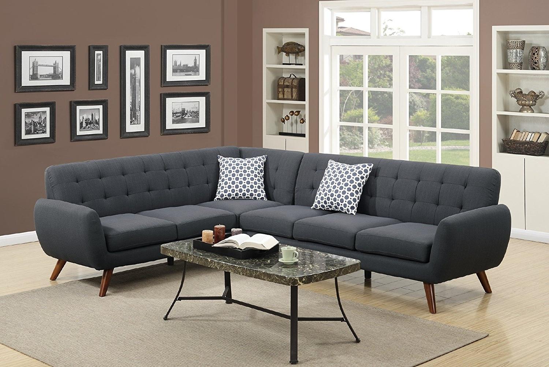 Amazon: Modern Retro Sectional Sofa (Laguna): Kitchen & Dining Pertaining To Well Known Retro Sofas (View 1 of 15)