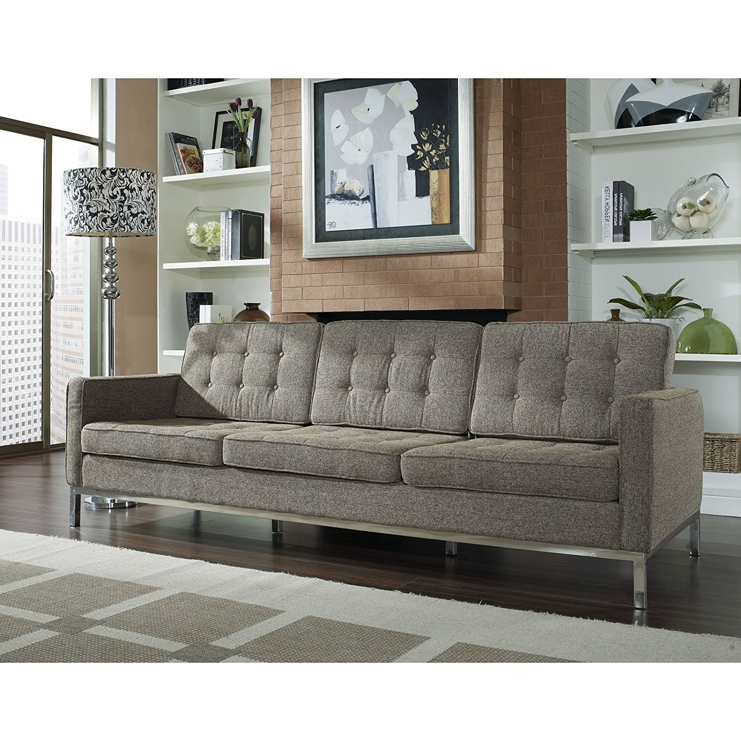 Amazon: Modway Florence Style Sofa In Oatmeal Wool: Kitchen Within Well Known Florence Large Sofas (View 4 of 15)