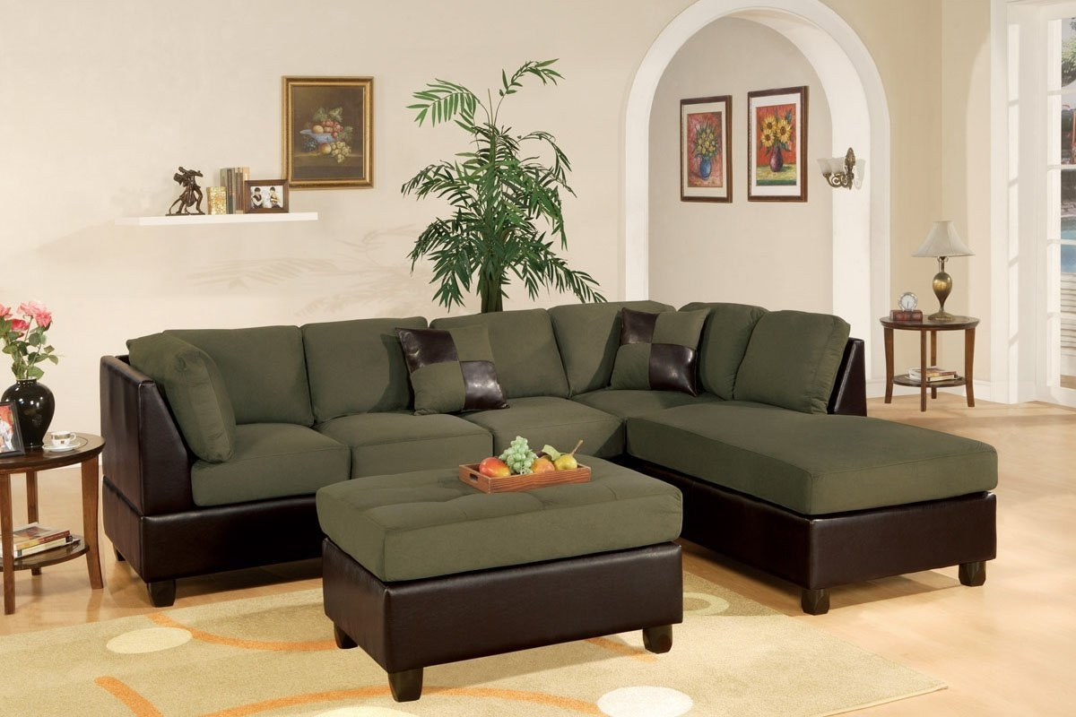 Amazon: Montpellier 3 Piece Sectional Sofa Set In Microfiber Within Current Sectionals With Ottoman (View 3 of 15)