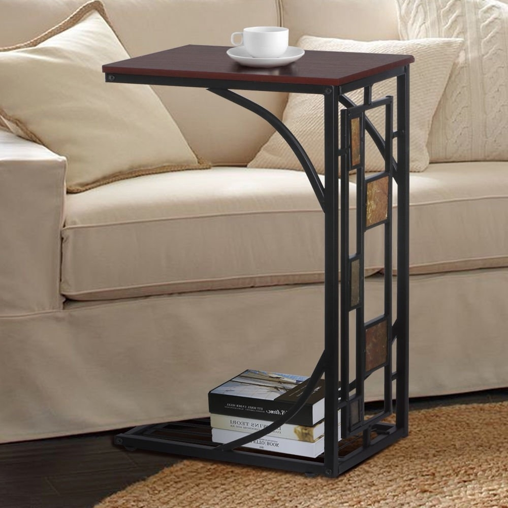 Amazon: New Coffee Tray Side Sofa Table Couch Room Console In Fashionable Sofas With Drink Tables (View 2 of 15)
