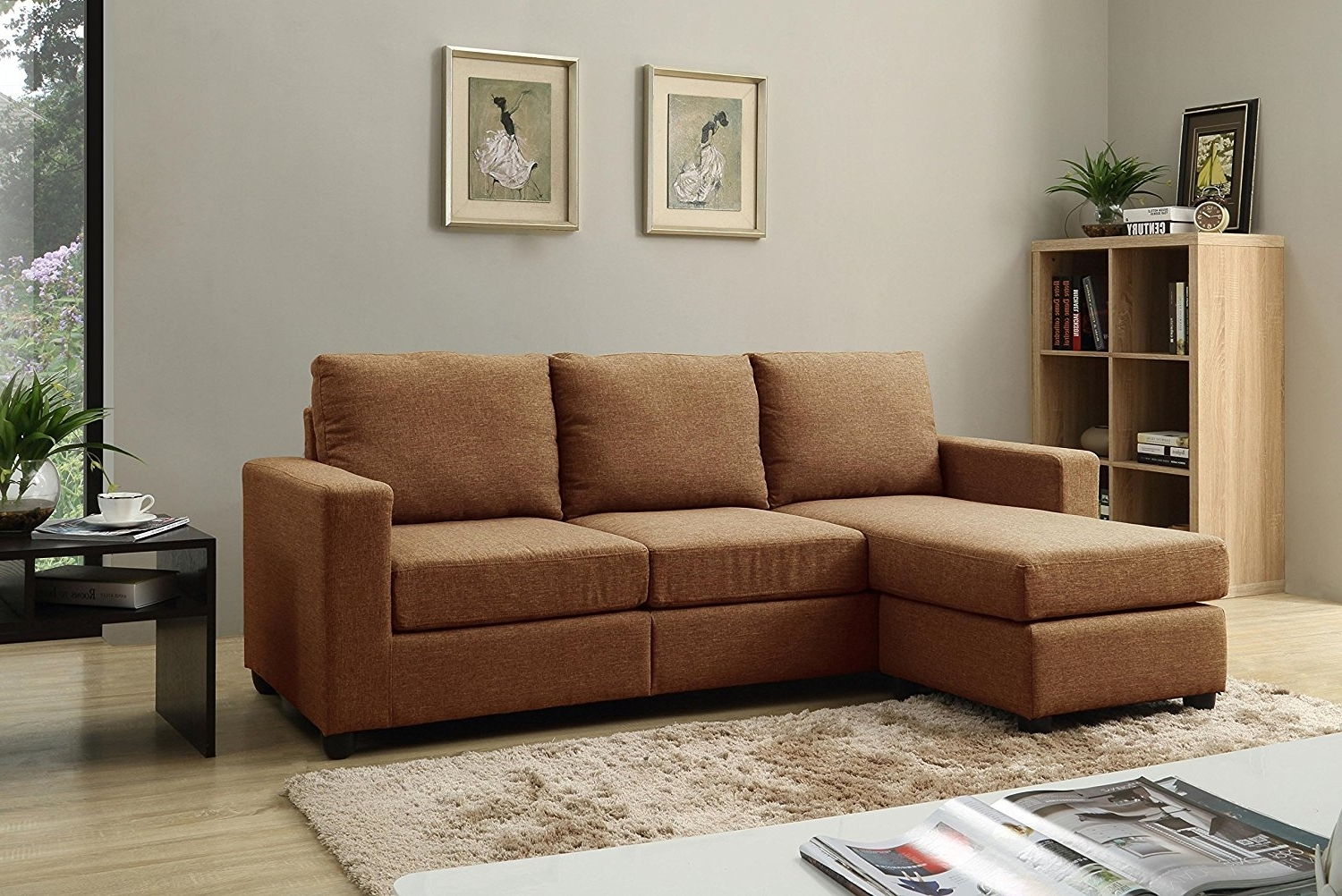 Amazon: Nhi Express Alexandra Convertible Sectional Sofa Pertaining To Widely Used Convertible Sectional Sofas (View 10 of 15)