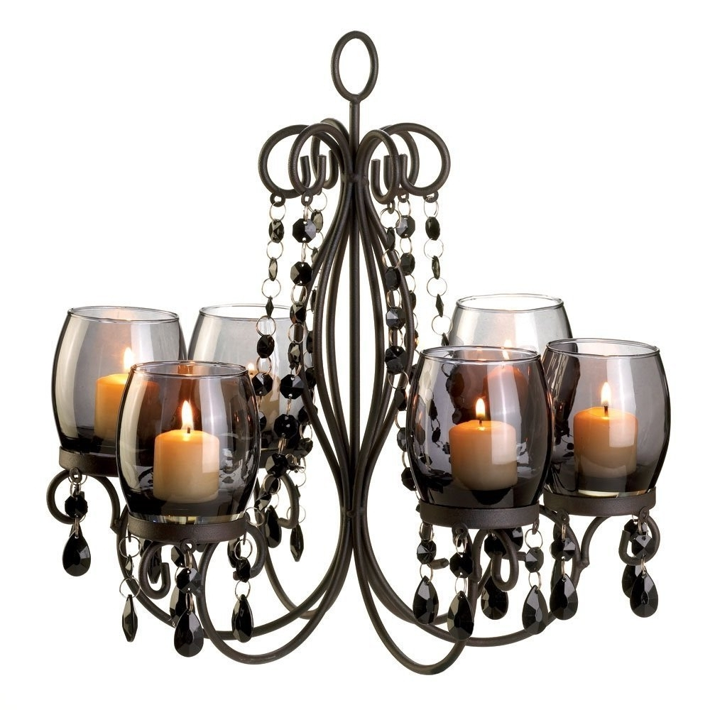 Amazon: Verdugo Gift Midnight Elegance Candle Chandelier: Home Inside Recent Candle Chandelier (View 2 of 15)