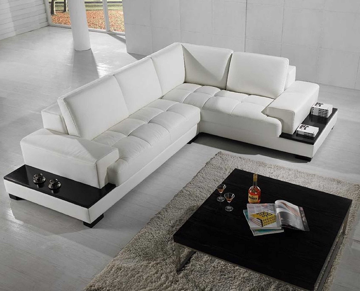 Amazon: Vig Furniture T71 Modern Leather Sectional: Kitchen In Current Modern Sectional Sofas (View 1 of 15)