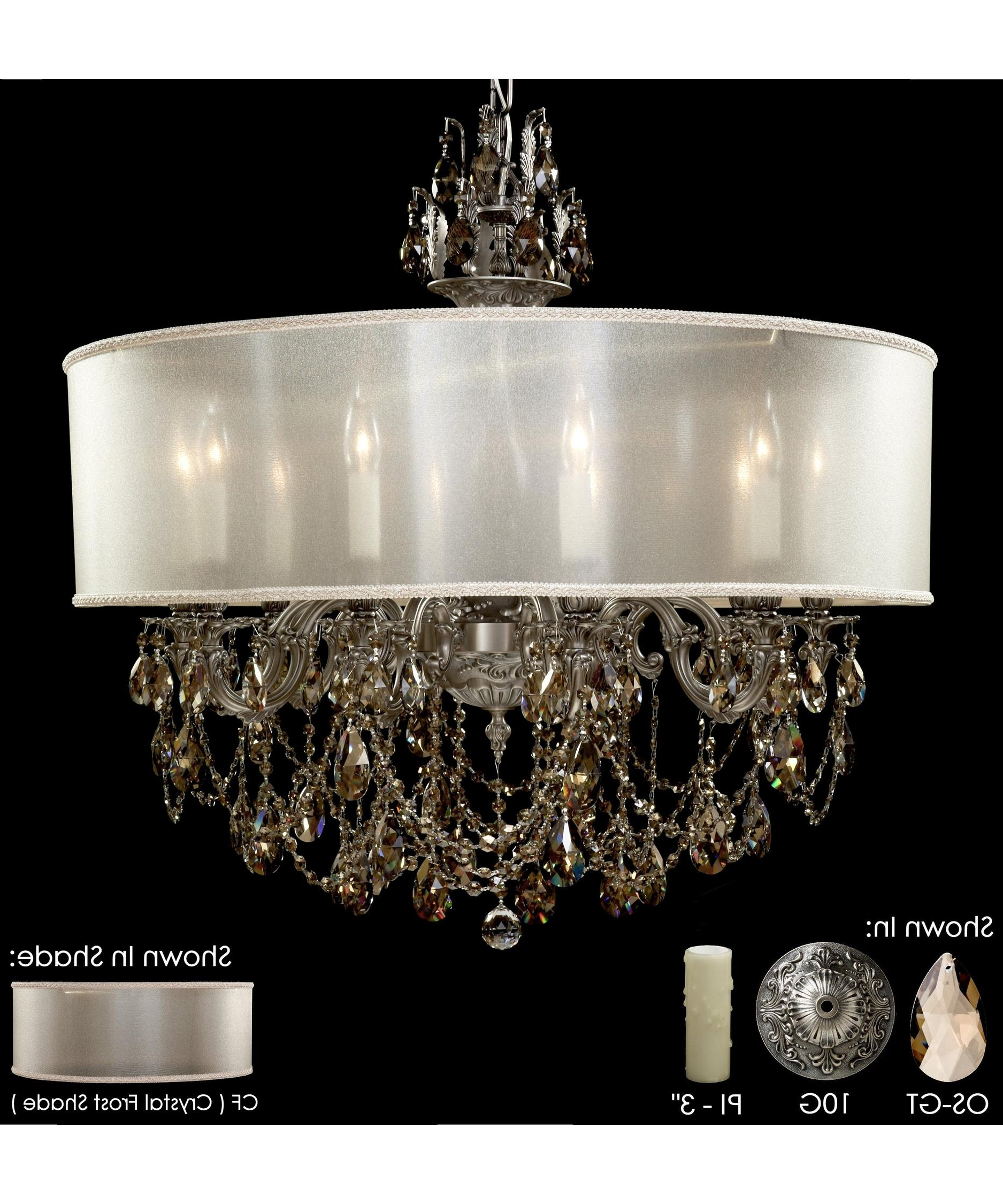 American Brass And Crystal Ch6562 Llydia 32 Inch Wide 10 Light With Regard To Preferred Crystal And Brass Chandelier (View 1 of 15)