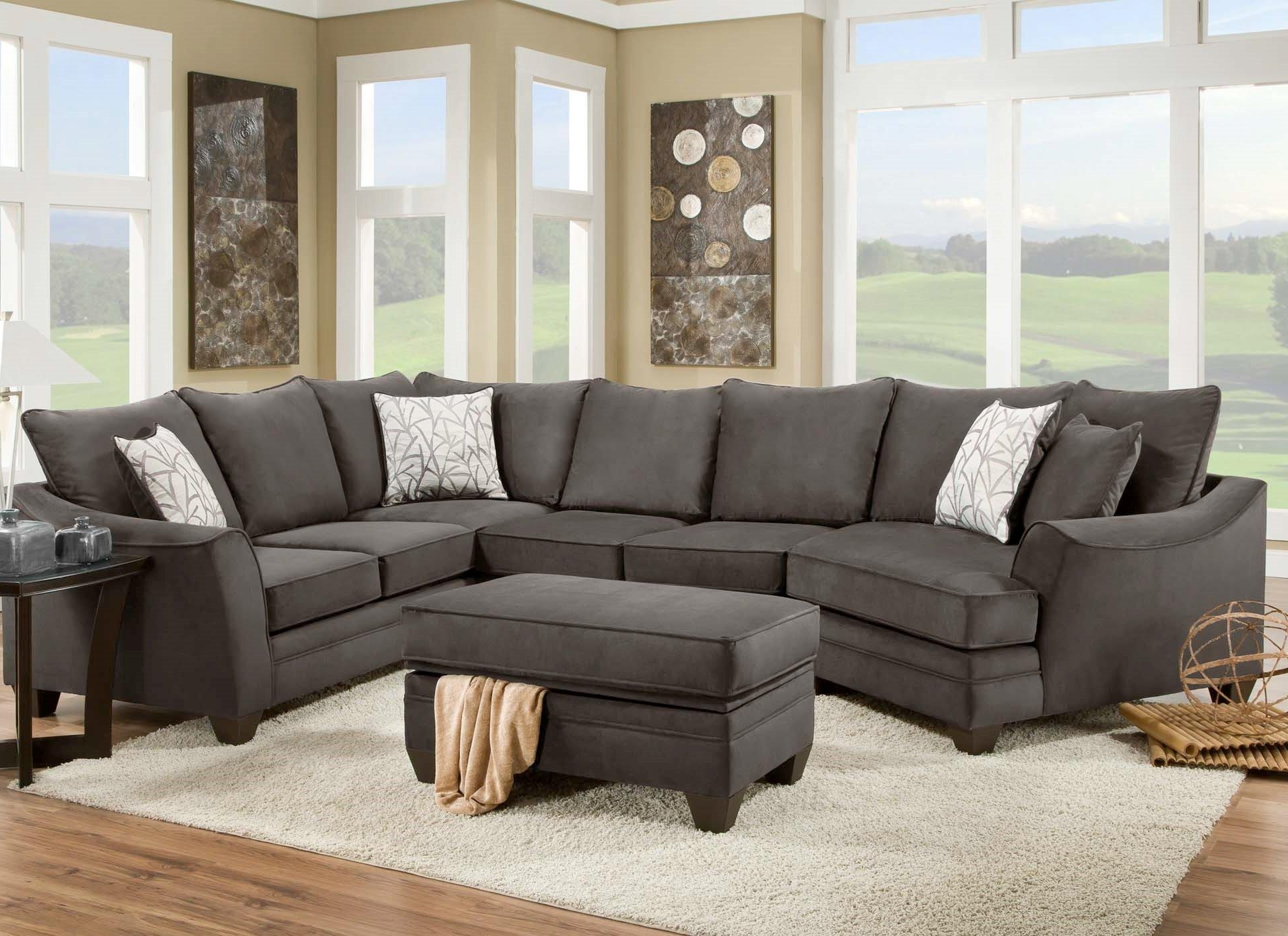 American Furniture 3810 Sectional Sofa That Seats 5 With Left Side Regarding Latest Hattiesburg Ms Sectional Sofas (View 8 of 15)