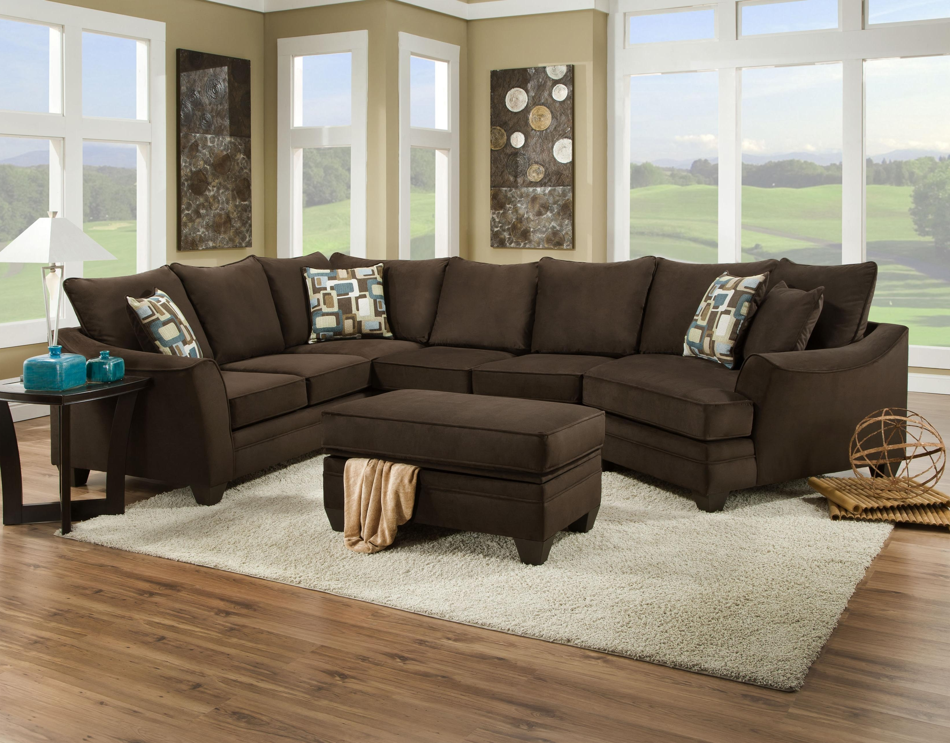 American Furniture 3810 Sectional Sofa That Seats 5 With Left Side Regarding Most Popular Greenville Nc Sectional Sofas (View 13 of 15)