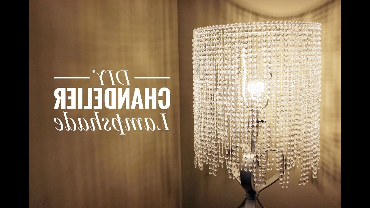 An Easy Way For You To Make A Beautiful Chandelier Lampshade – Youtube In Recent Chandelier Lampshades (View 1 of 15)