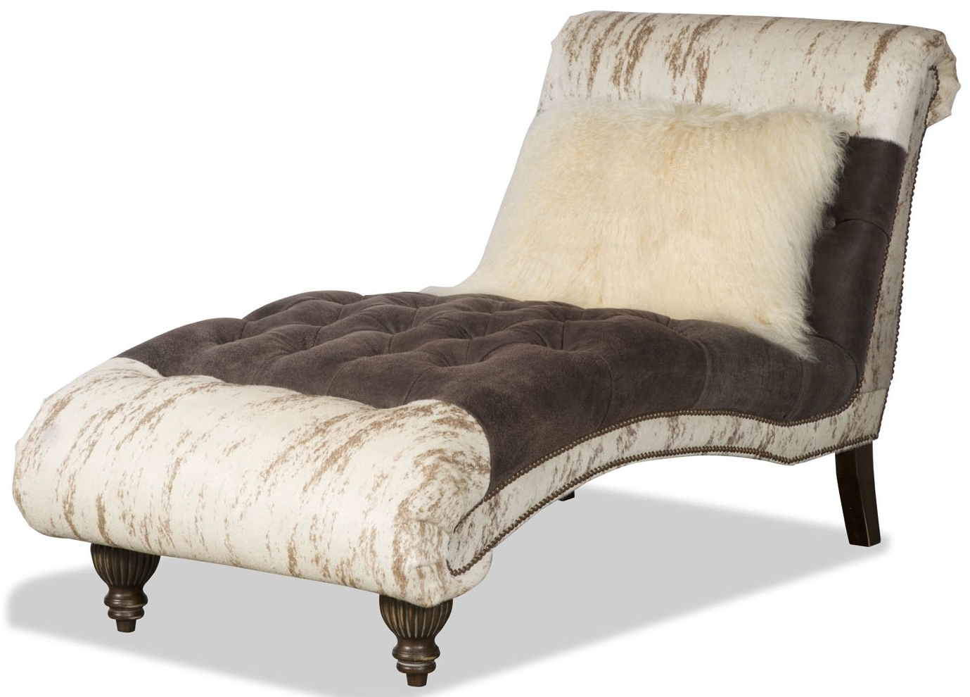 Animal Print Chaise In Favorite Chaise Benchs (View 2 of 15)