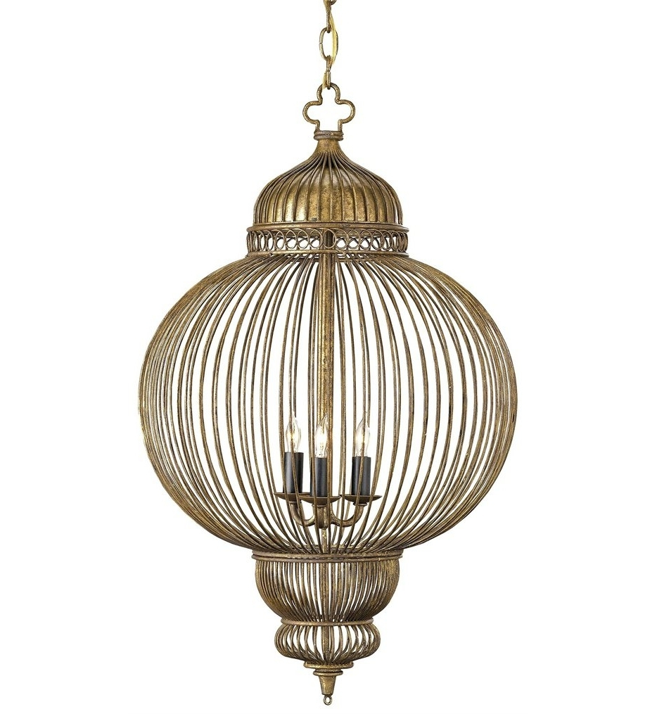 Antique Black Chandelier With Regard To Current Currey & Company – 9137 – Giltspur 3 Light Chandelier With Rustic (View 14 of 15)