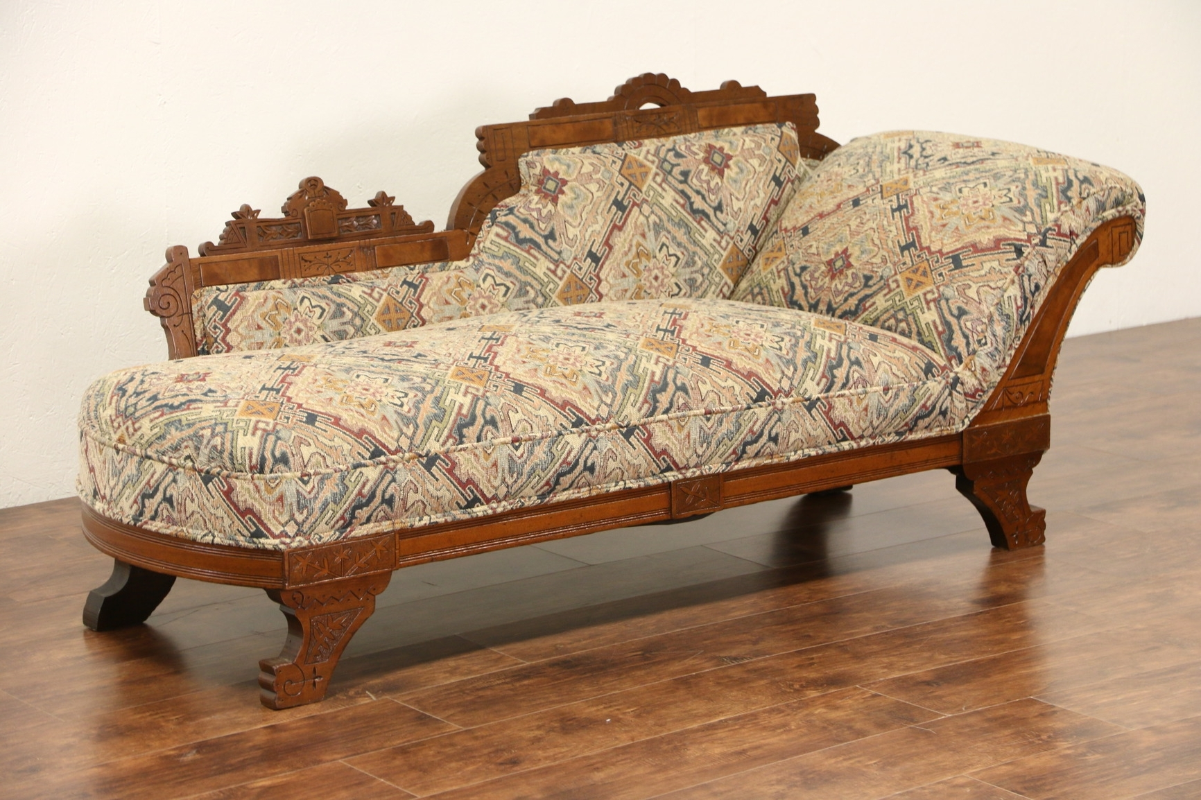 Antique Chaise Lounge Chairs Inside Current Sold – Victorian Eastlake 1880 Antique Chaise Lounge Or Fainting (View 13 of 15)