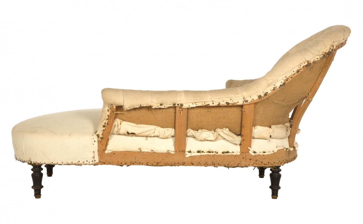 Antique Chaise Lounges In Most Popular Antique Unupholstered Chaise Lounge (View 2 of 15)