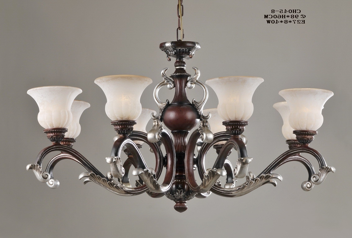 Antique Chandeliers Regarding Widely Used Luxurious 8 Light Rust Antique Chandeliers For Sale (View 2 of 15)
