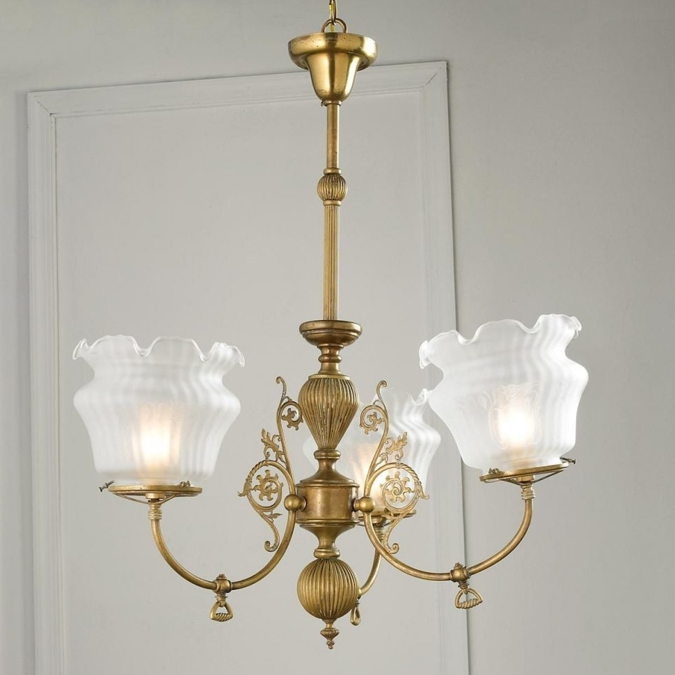 Antique Looking Chandeliers With Current Chandeliers : Antique Looking Chandeliers Converted Gas Chandelier (View 5 of 15)