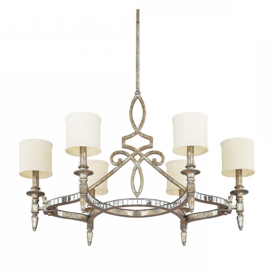 Antique Mirror Chandelier intended for Most Up-to-Date Antique Mirror Chandelier