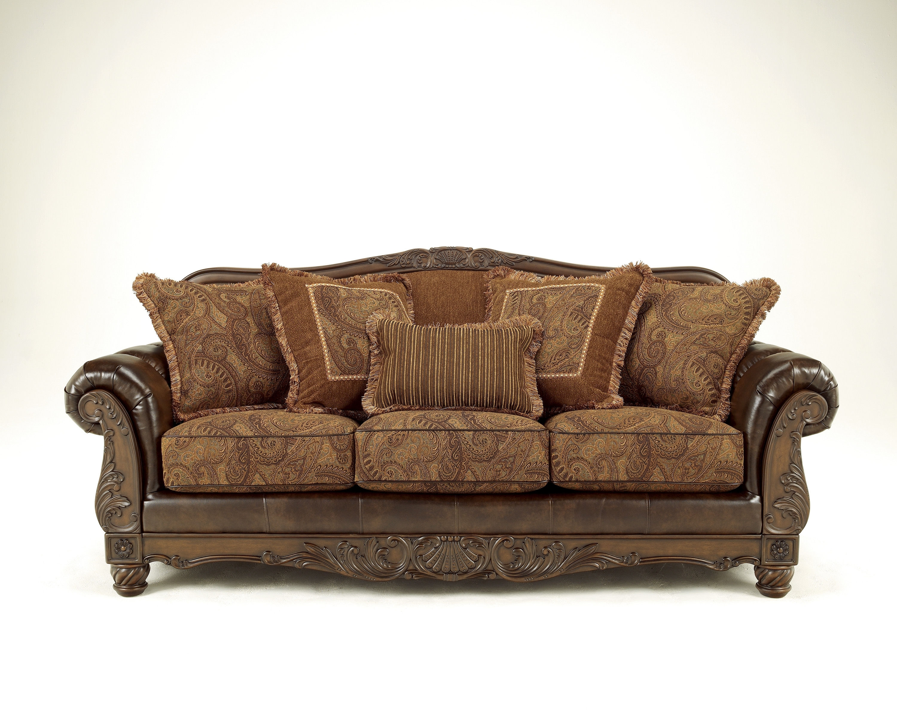 Antique Sofas For Current Ashley Furniture Fresco Durablend Antique Sofa (View 15 of 15)
