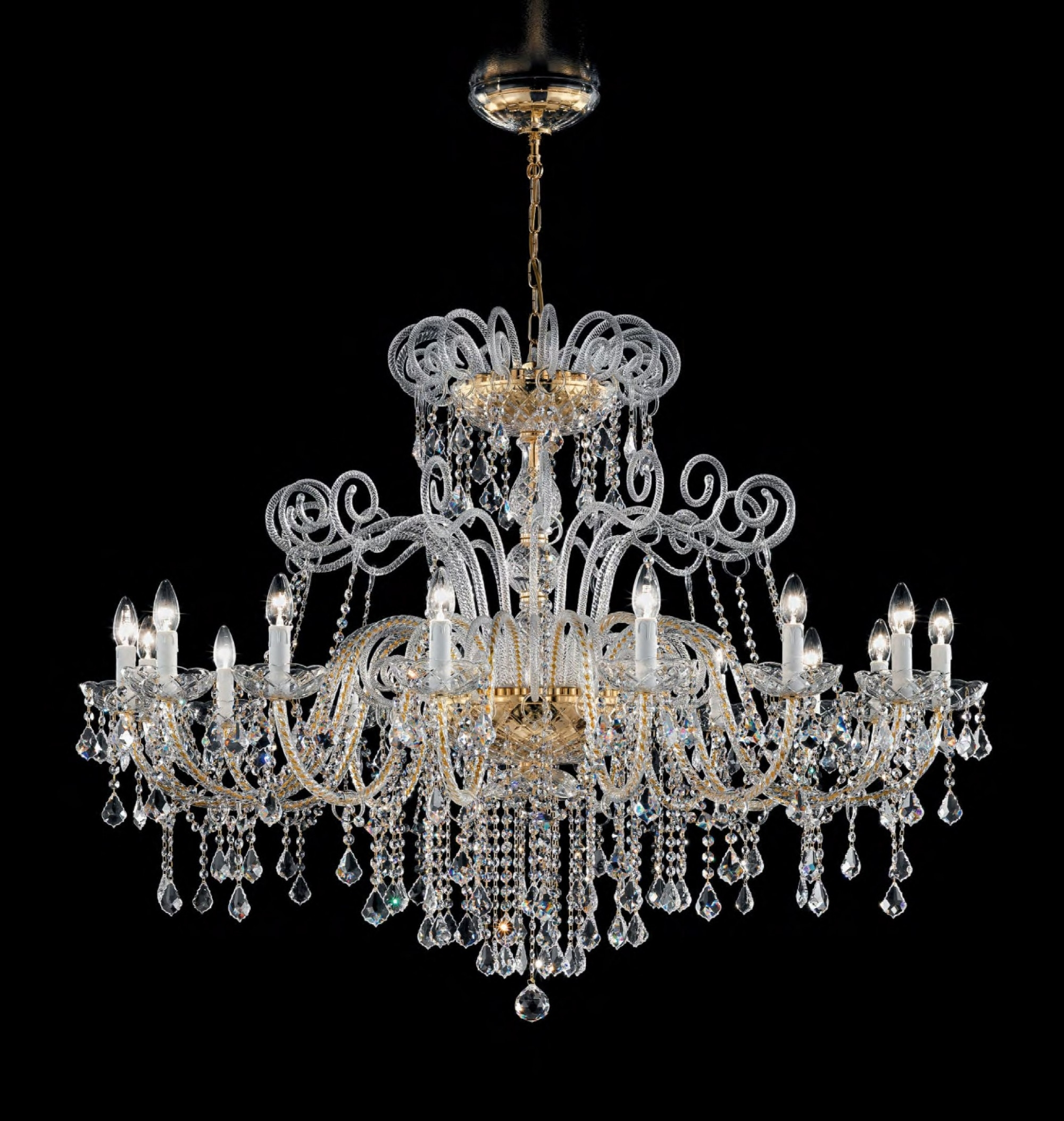 Antique Style Murano Glass Swarovski Crystals Chandelier Syl948K16 In Recent Antique Style Chandeliers (View 7 of 15)