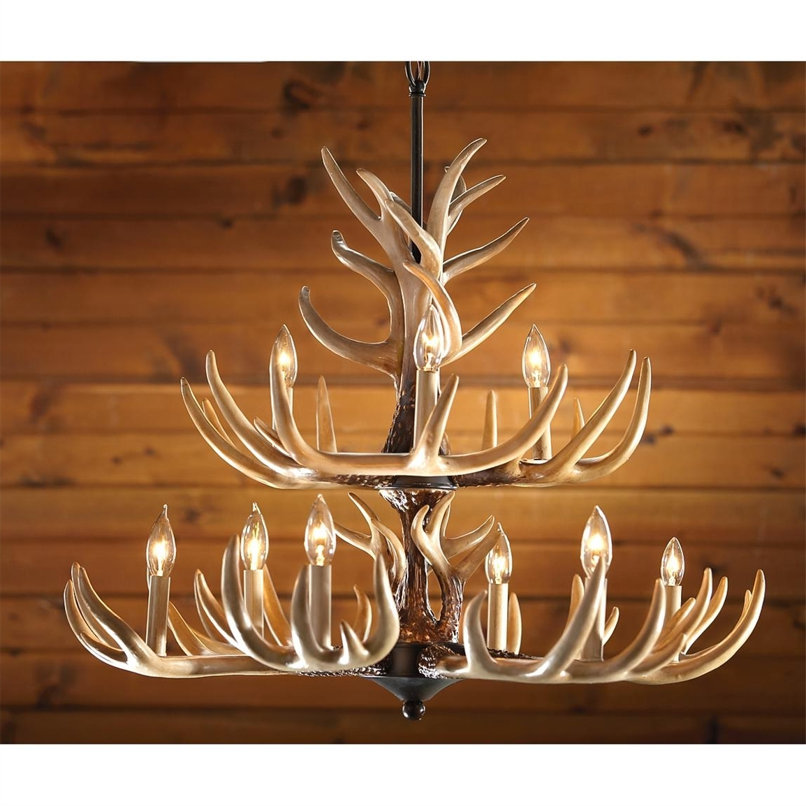 Antler Chandelier With Well Liked Castlecreek 9 Light Whitetail Antler Chandelier – 226093, Lighting (View 9 of 15)