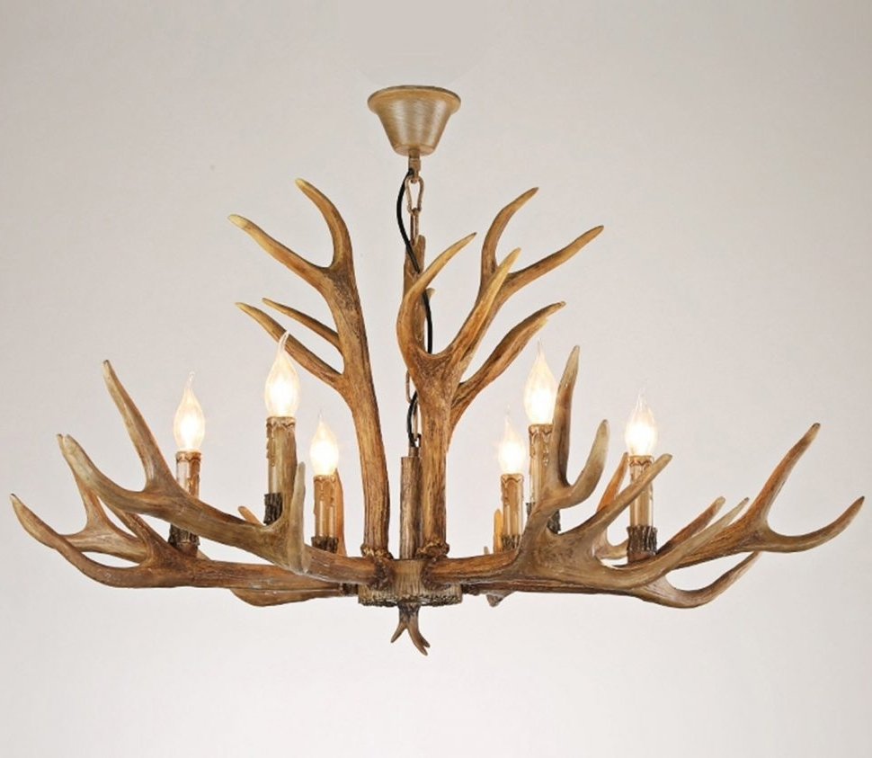 Antlers Chandeliers With Regard To Most Current Chandeliers : Faux Antlerelier Small With Ceiling Fan Pottery Barn (View 7 of 15)