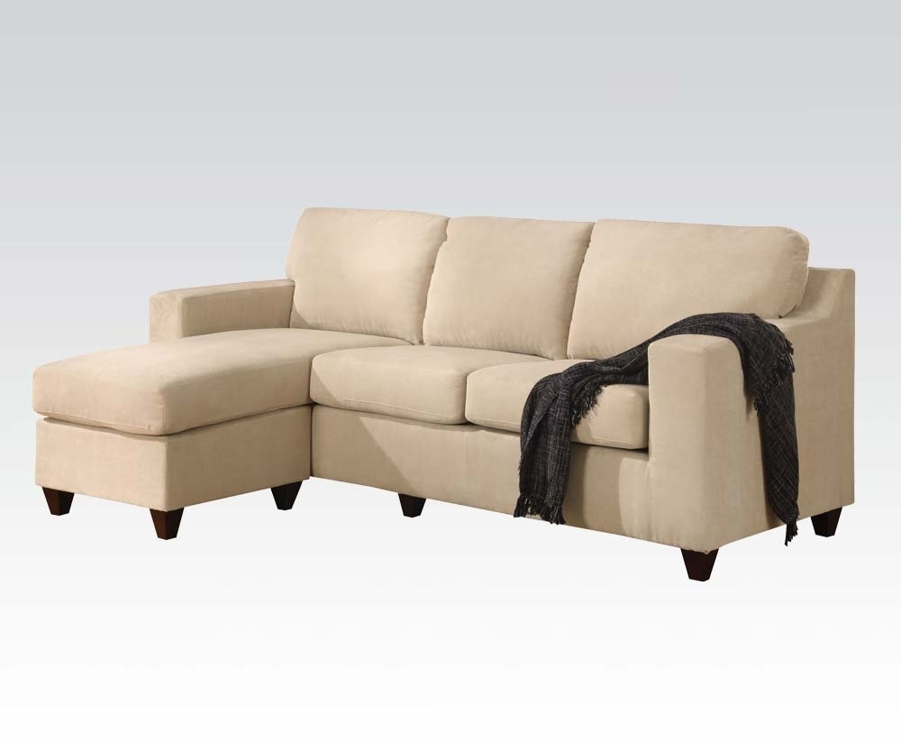 Apartment Sectional Sofas With Chaise With Regard To Most Recent Amazon: Vogue Microfiber Reversible Chaise Sectional Sofa (View 15 of 15)