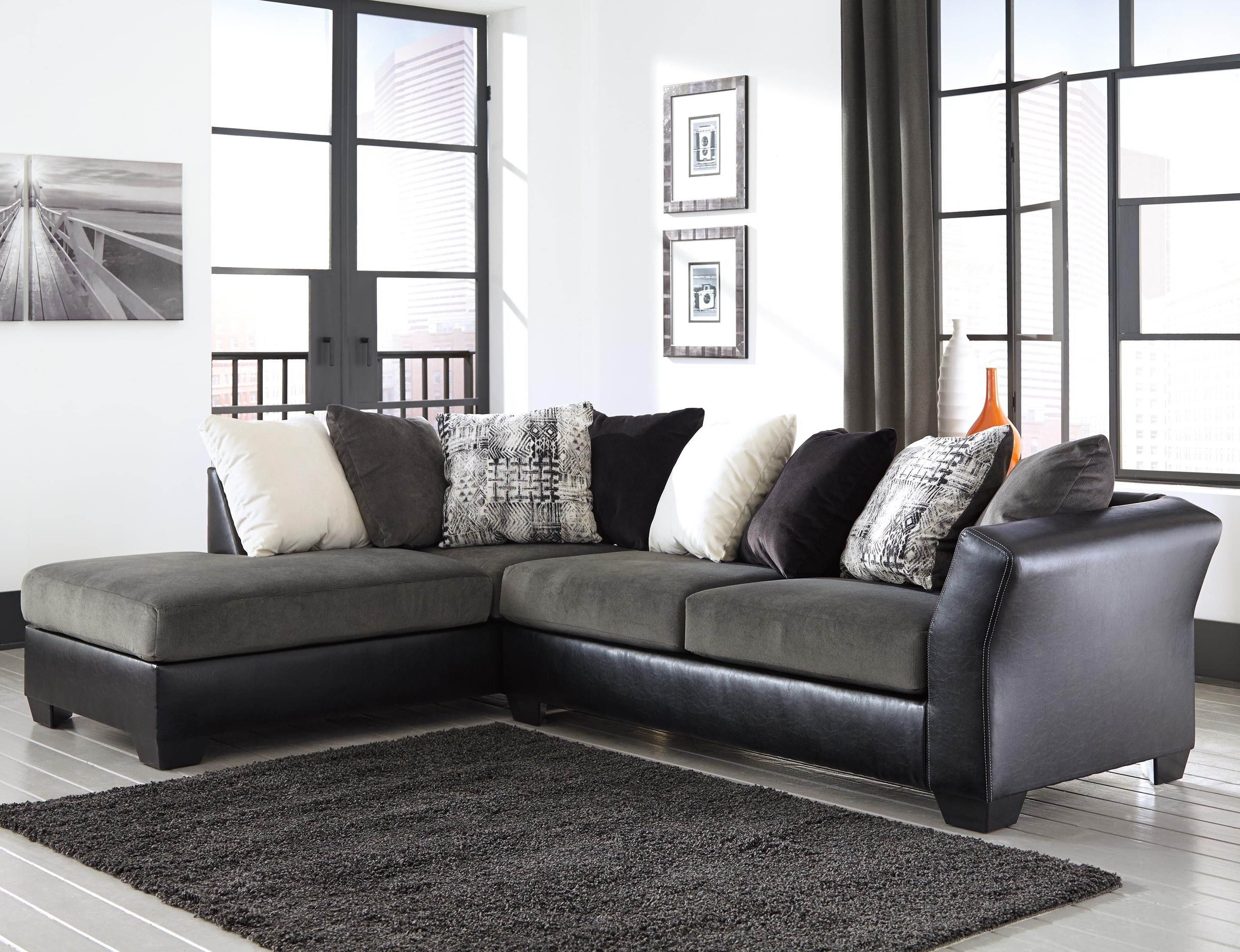 Armant 2 Piece Sectional With Right Chaisesignature Design Regarding Favorite Eau Claire Wi Sectional Sofas (View 7 of 15)