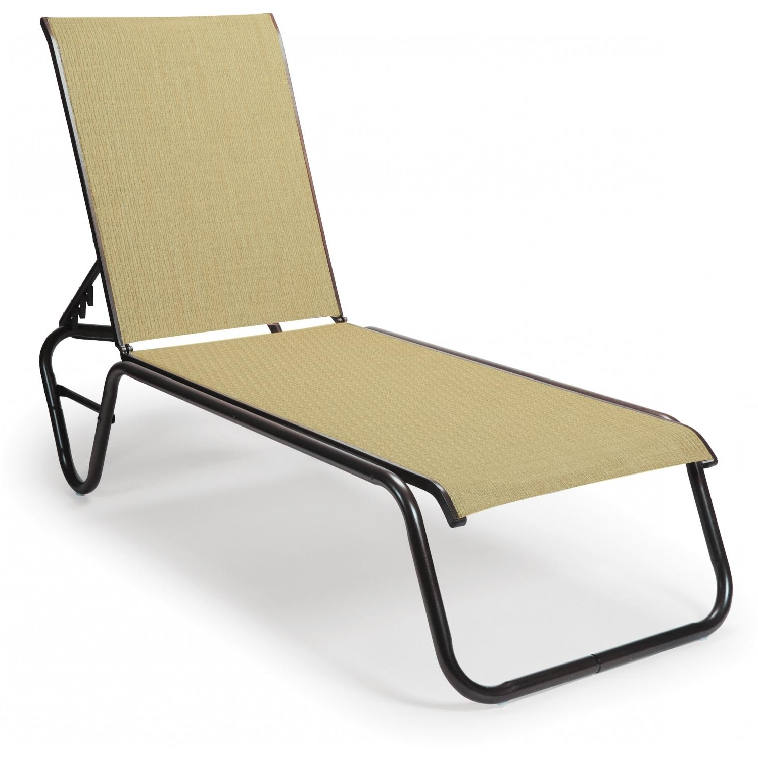 Armless Chaise Lounges With Famous Telescope Casual Gardenella Sling Patio Stacking Armless Chaise (View 5 of 15)