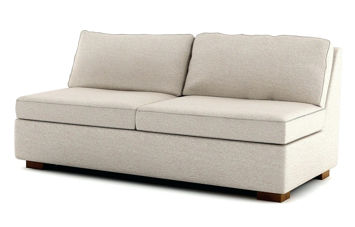 Armless Sofas Small Sofa Uk Bed And Chairs – Poikilothermia Throughout Best And Newest Small Armless Sofas (View 3 of 15)