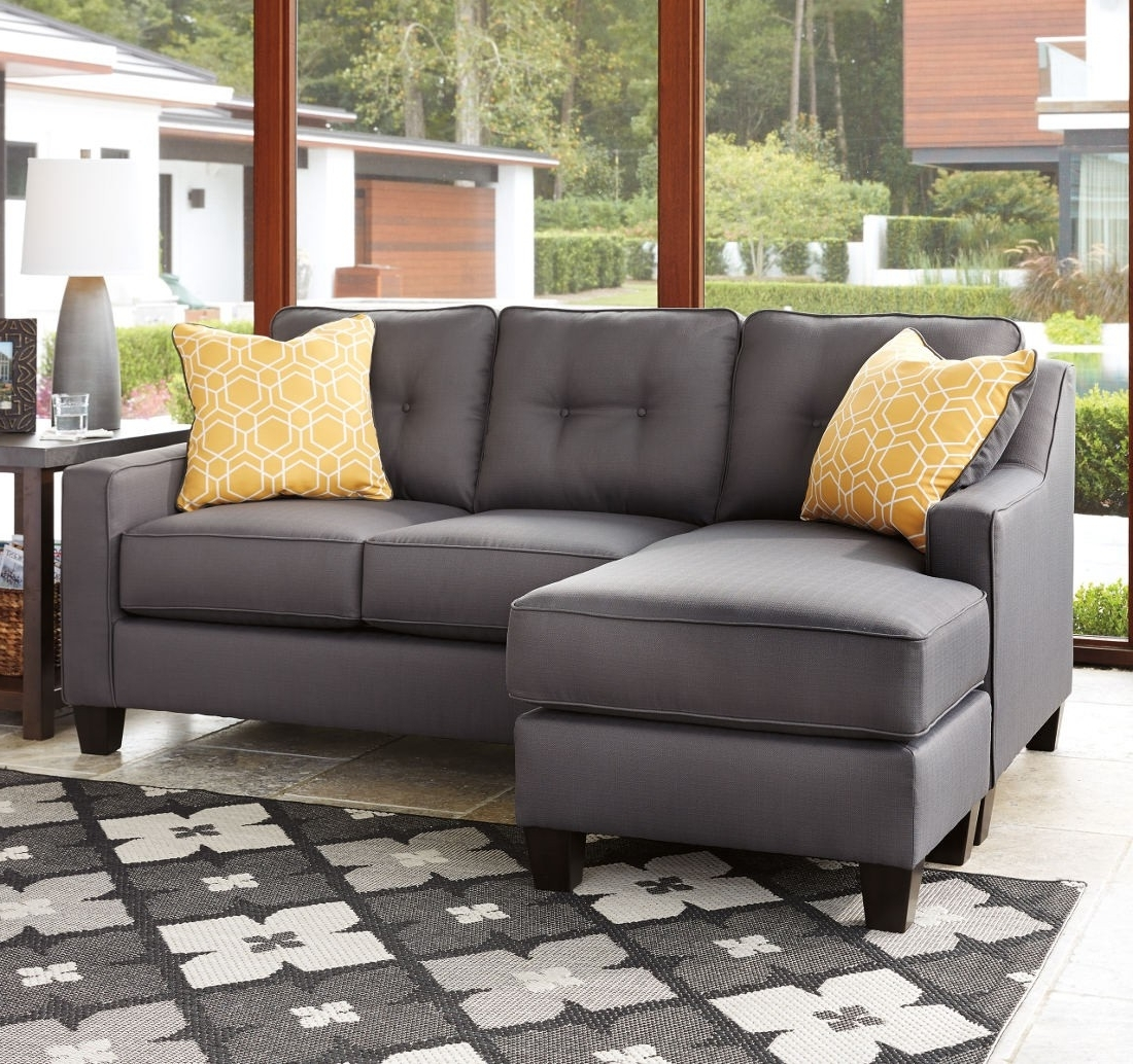 Ashley Furniture Aldie Nuvella Sofa Chaise In Gray (View 1 of 15)