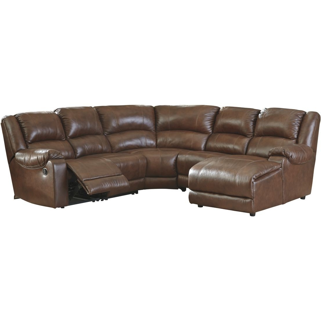 Ashley Furniture Billwedge Sectional Sofa In Canyon (View 4 of 15)