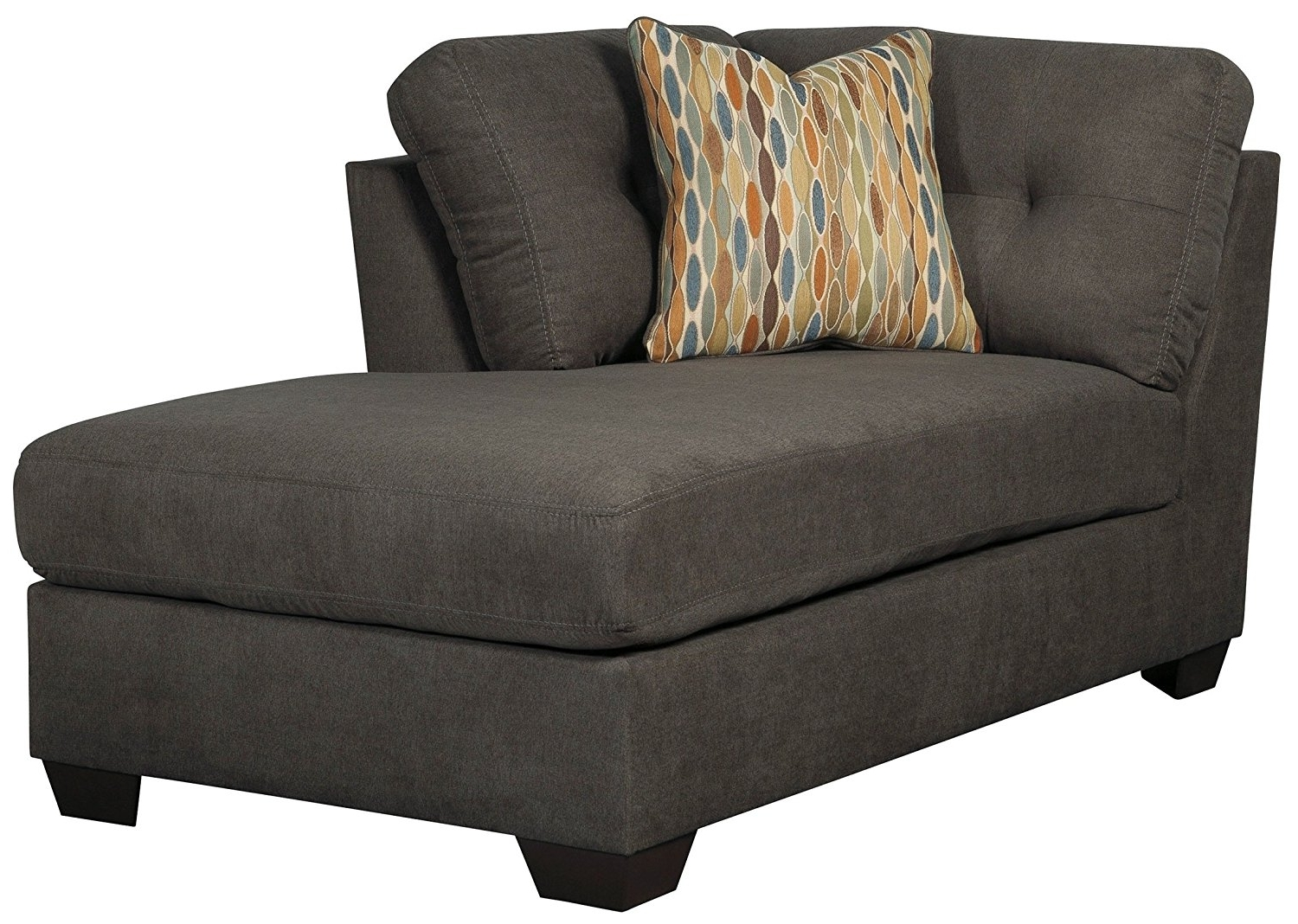 Ashley Furniture Chaise Lounges Pertaining To Most Up To Date Amazon: Ashley Furniture Delta City Right Corner Chaise Lounge (View 3 of 15)