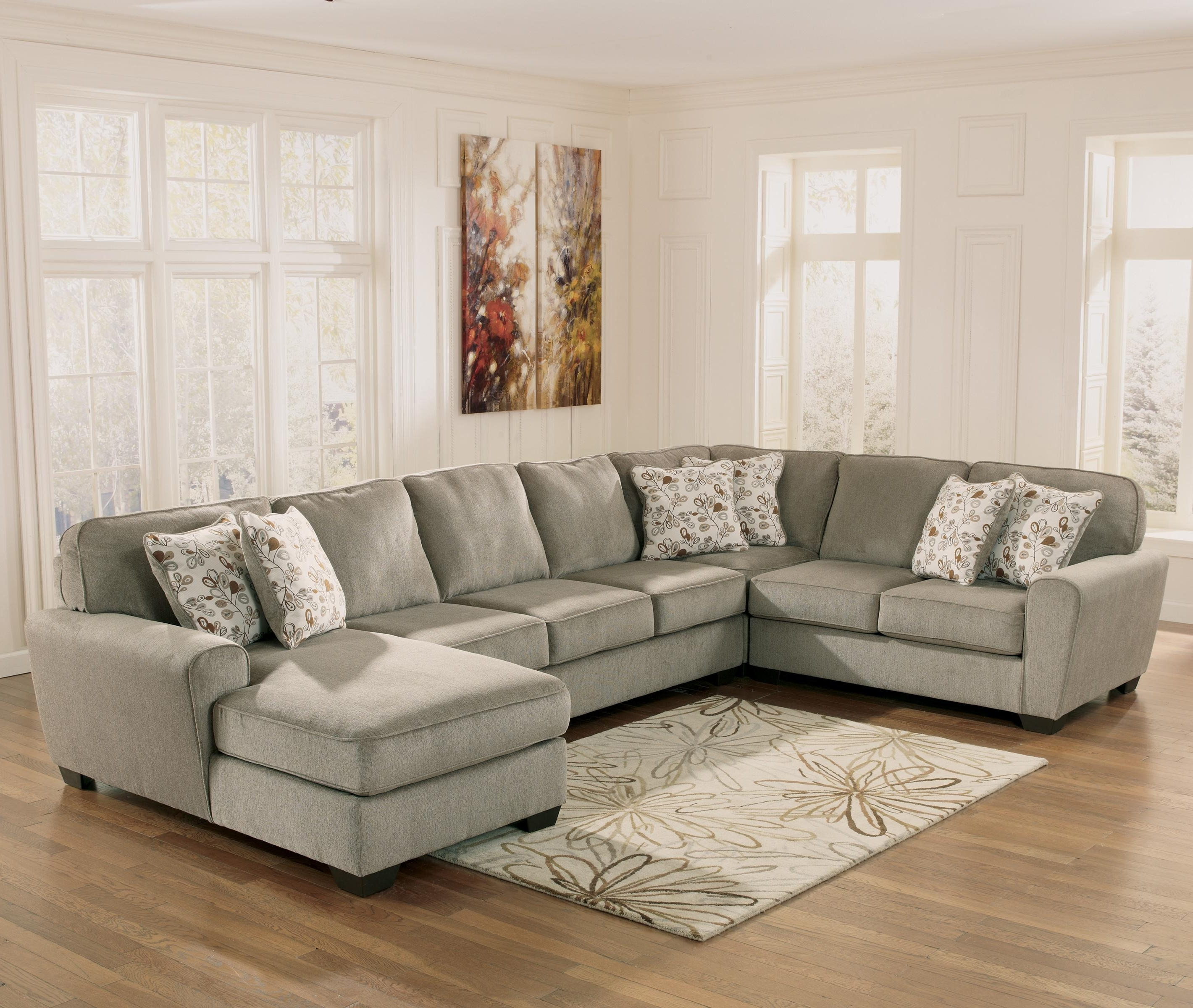 Ashley Furniture Chaise Sofas Inside Most Current Ashley Furniture Patola Park – Patina 4 Piece Sectional With Right (View 6 of 15)