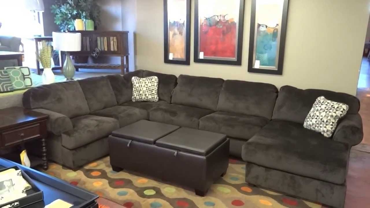 Ashley Furniture Jessa Place Sectional 398 Review – Youtube With Regard To Trendy Sectional Sofas At Ashley Furniture (View 11 of 15)