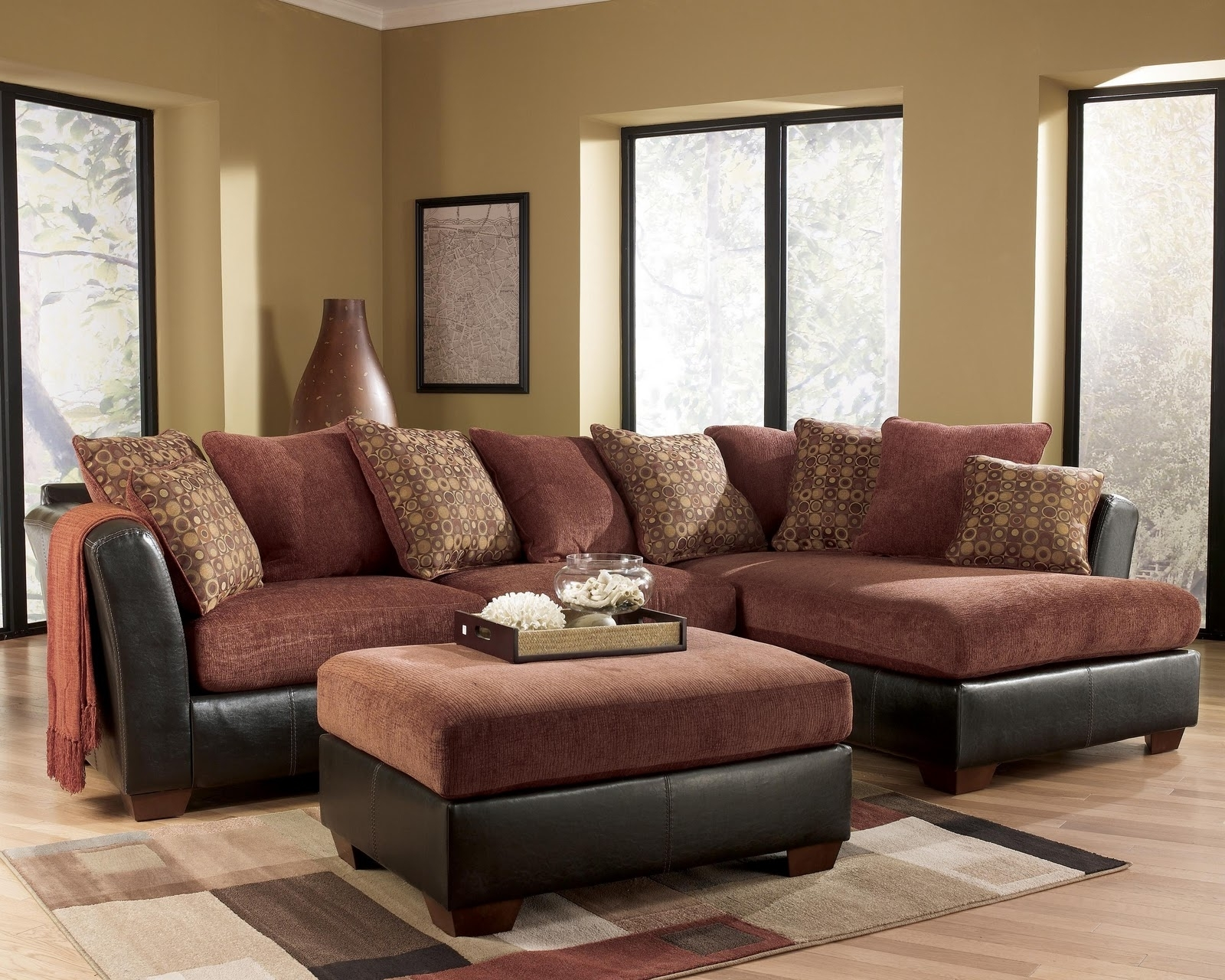 Ashley Furniture – Larson 31400 Cinnamon Sofa Sectional – Royal Regarding Famous Royal Furniture Sectional Sofas (View 3 of 15)
