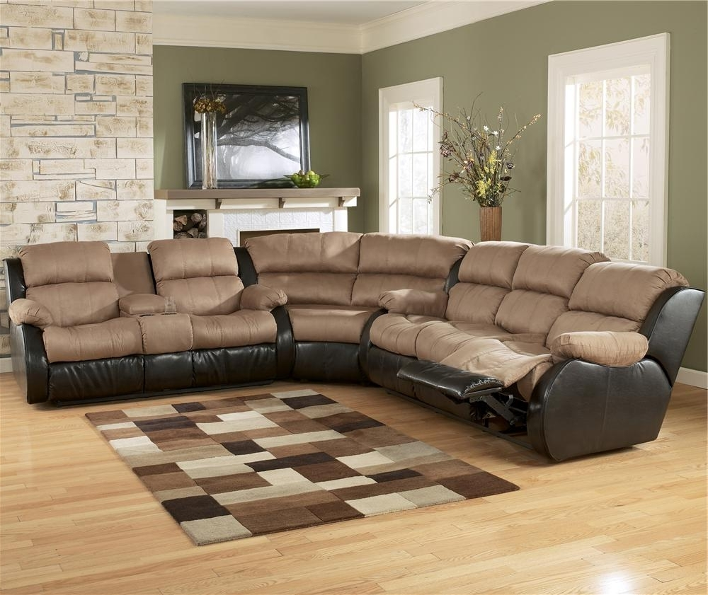 Ashley Furniture Presley – Cocoa L Shaped Sectional Sofa With Full Inside Trendy Killeen Tx Sectional Sofas (View 2 of 15)