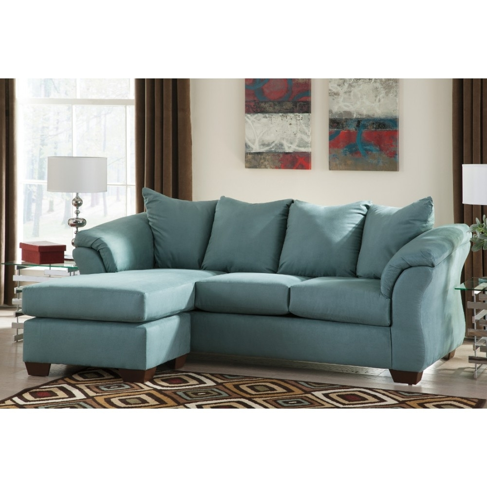 Ashley Furniture Sofa Chaises With Preferred Ashley Furniture Darcy Sofa Chaise In Sky (View 2 of 15)