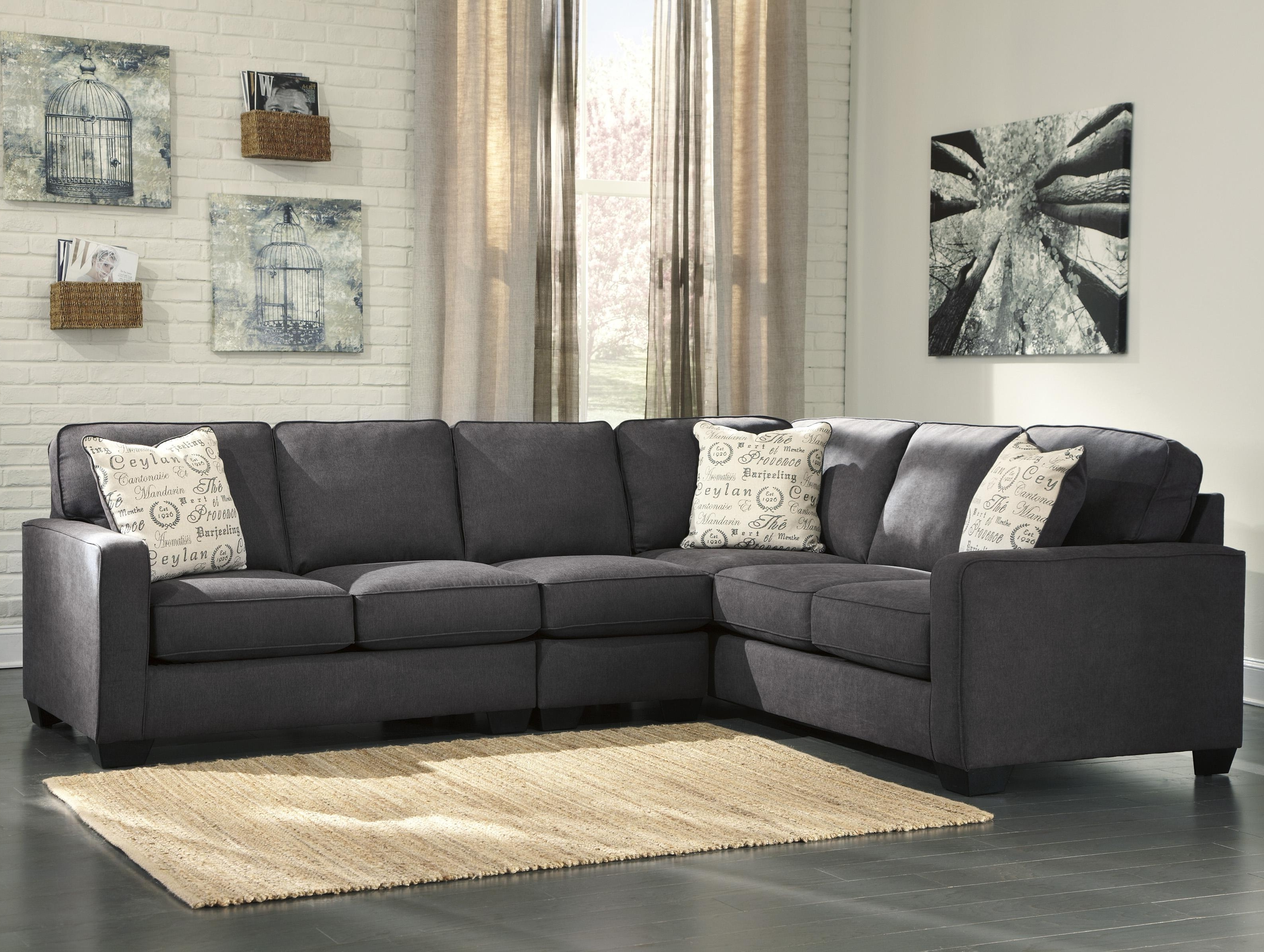 Ashley Signature Design Alenya – Charcoal 3 Piece Sectional With Inside 2018 Sectional Sofas At Ashley (View 4 of 15)