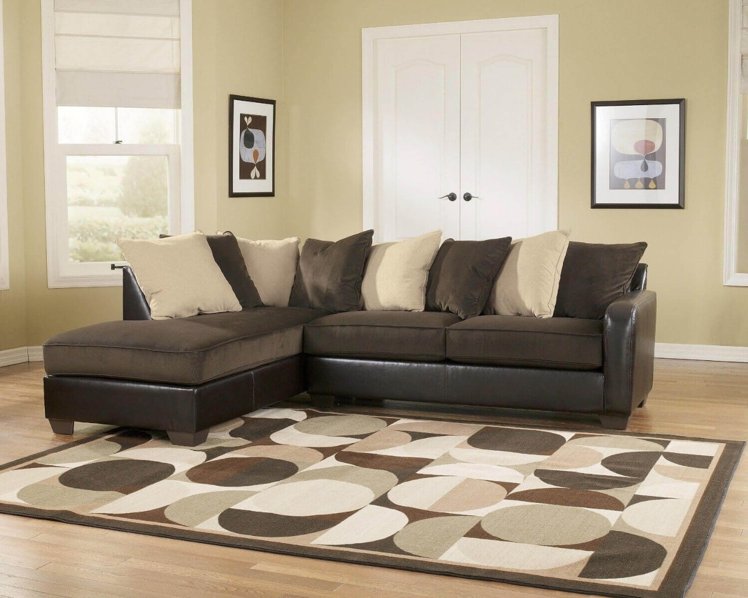Ashley Sofa Chaises Pertaining To Popular Sectional Sofa Design: Elegant Ashley Furniture Sectional Sofas (View 2 of 15)