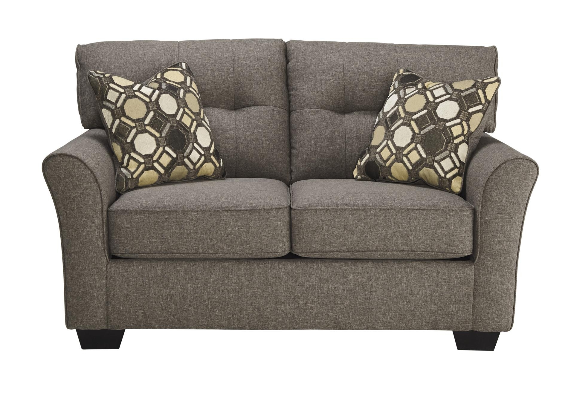 Ashley Tufted Sofas With Regard To Well Known Tibee Slate Loveseat (View 8 of 15)