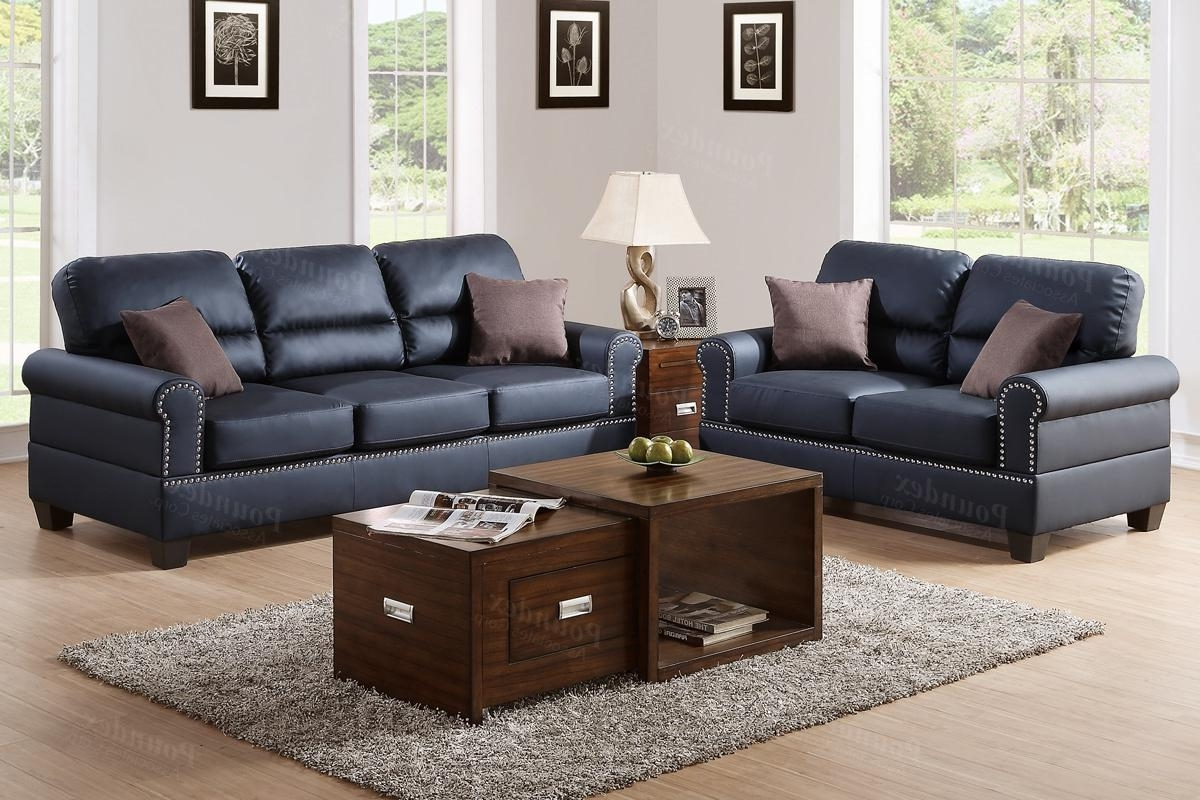 Aspen Leather Sofas In Well Known Black Leather Sofa And Loveseat Set – Steal A Sofa Furniture (View 3 of 15)