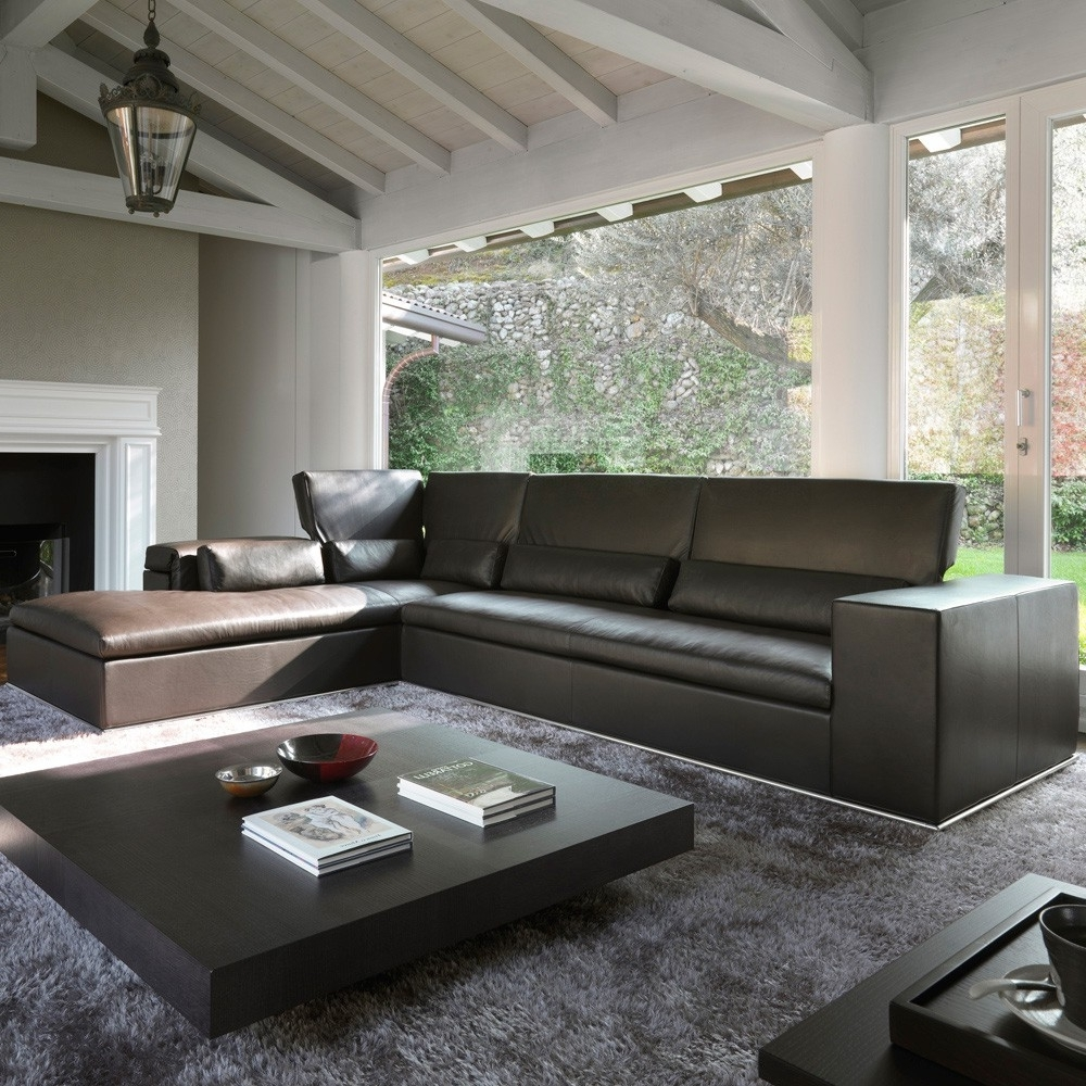 Atlanta Leather Sectional – Modern Leather Sectionals Intended For 2018 Sectional Sofas At Atlanta (View 3 of 15)