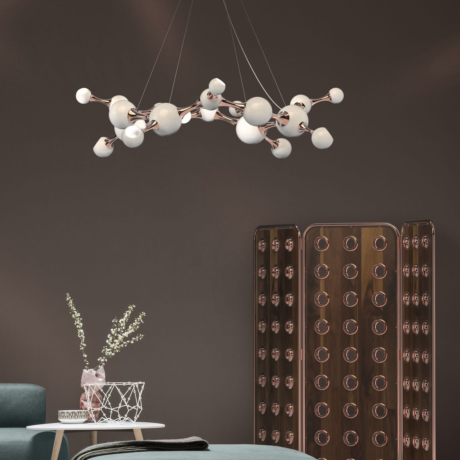 Atom Chandeliers Pertaining To Favorite Original Design Chandelier / Brass / Steel / Commercial – Atomic (View 9 of 15)