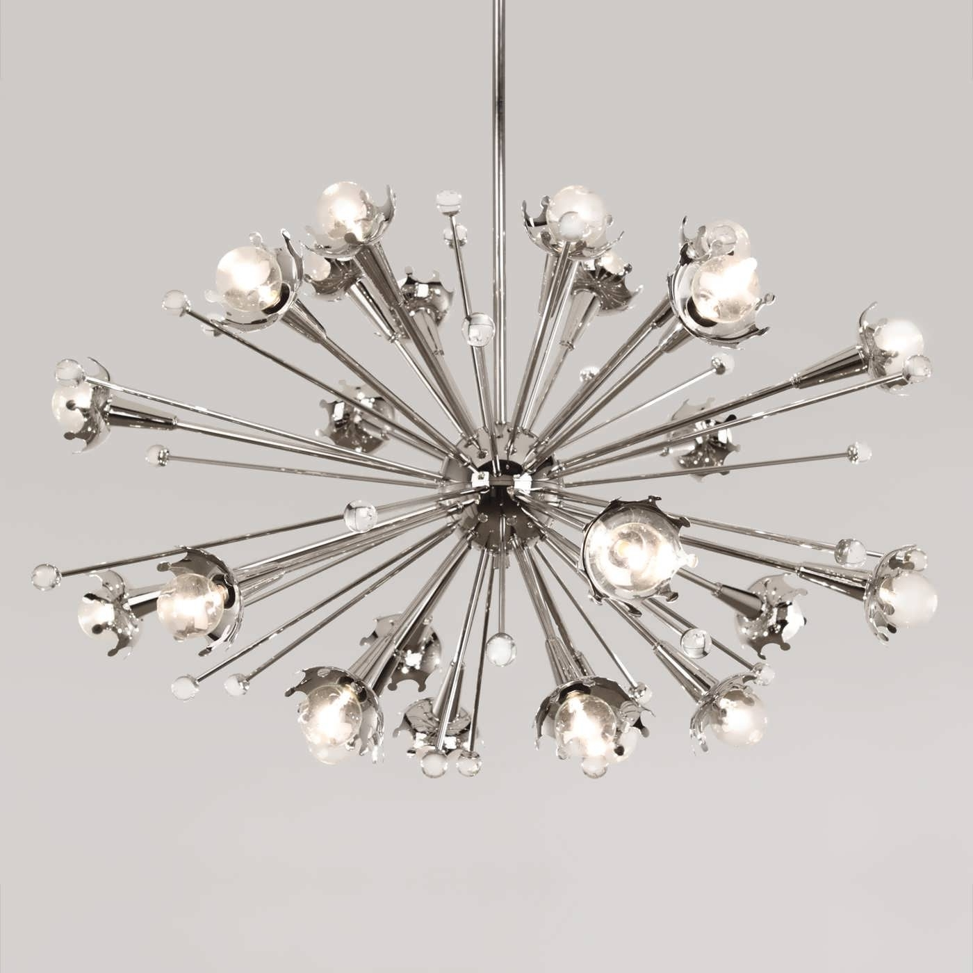 Atom Chandeliers Regarding Popular Chandelier : Overstock Chandeliers Chandelier Lamp Sputnik Style (View 3 of 15)