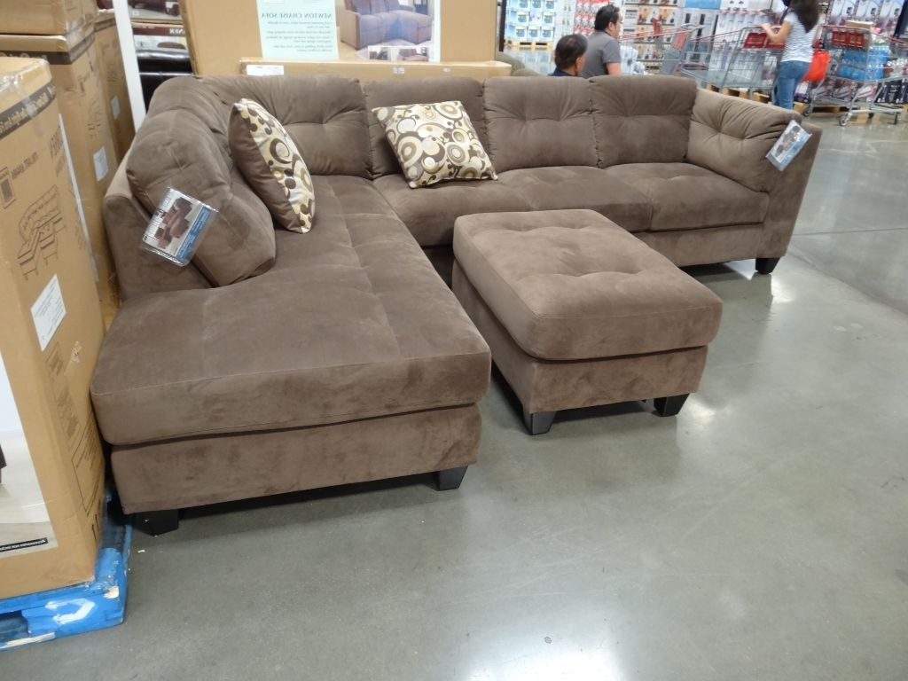 Awesome Costco Sectional Sofas 14 For Chocolate Brown Sectional Inside Popular Costco Chaises (View 12 of 15)