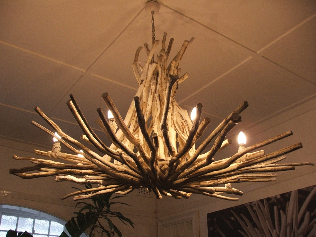 Awesome Tree Branch Chandelier : Tree Branch Chandelier Rustic Style Regarding Well Known Branch Chandeliers (View 15 of 15)