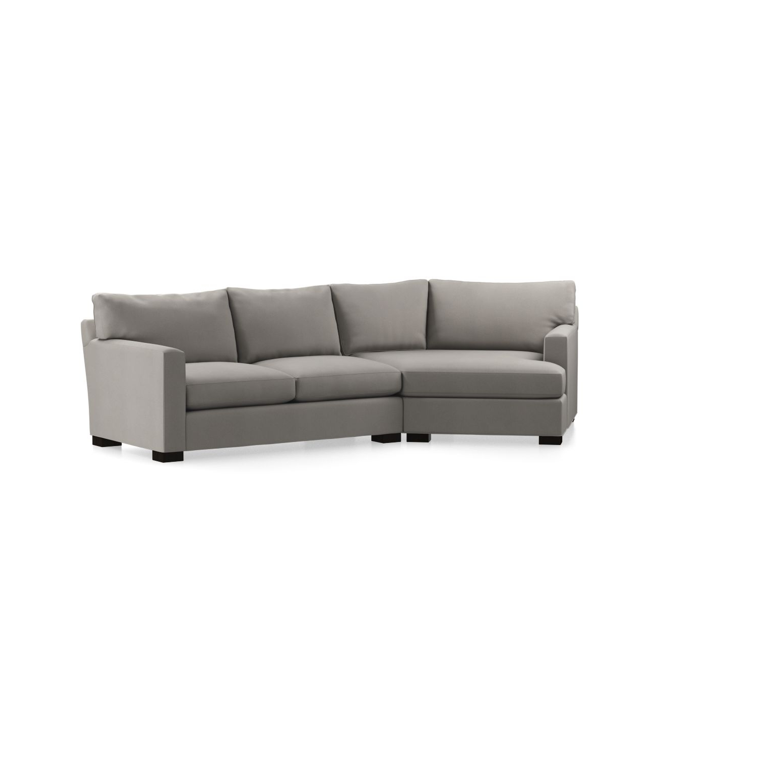 Axis Ii 2 Piece Left Arm Angled Chaise Sectional Sofa In Axis Pertaining To Well Known Angled Chaise Sofas (View 4 of 15)